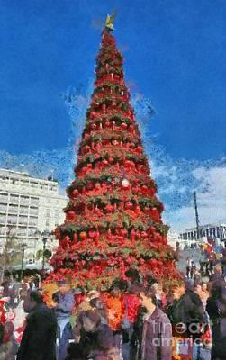 Christmas Tree Poster by George Atsametakis