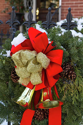 Christmas Wreaths And A Rare Holiday Poster