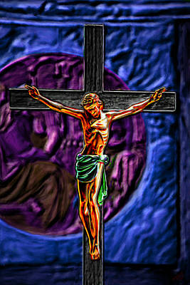 Christs Crucifixion  Poster by Bruce Nutting