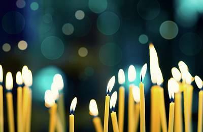 Church Candles Poster by Wladimir Bulgar
