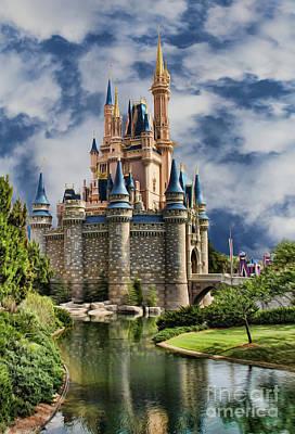 Cinderella Castle Poster by Lee Dos Santos