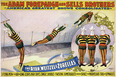 Poster featuring the painting Circus Poster, C1898 by Granger