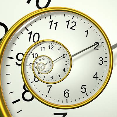 Clockface Spacetime Warp Poster by David Parker