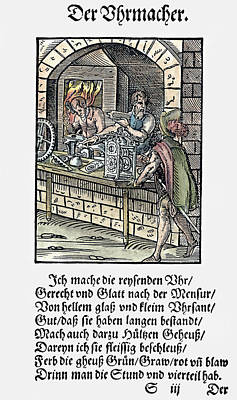 Clockmaker, 1568 Poster by Granger