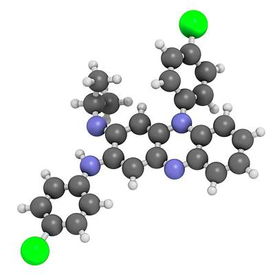 Clofazimine Leprosy Drug Molecule Poster