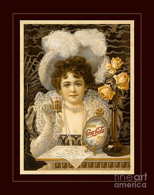 Coca-cola Vintage Retro Poster Poster by John Stephens