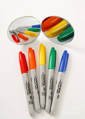 Colorful Markers Poster by Photo Researchers