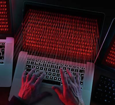 Computer Hacking Poster by Tek Image