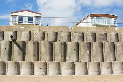 Concrete Sea Defences Poster by Ashley Cooper