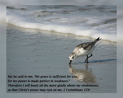 2 Corinthians 12 9 Poster by Dawn Currie