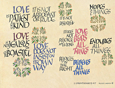 1 Corinthians 13 Poster by Dave Wood