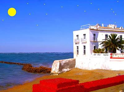 Cortijo On The Beach Poster by Bruce Nutting