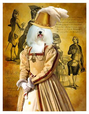 Coton De Tulear Art Canvas Print  Poster by Sandra Sij