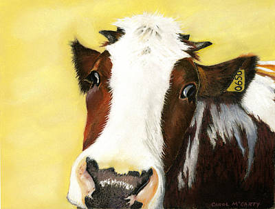 Cow No. 0650 Poster by Carol McCarty