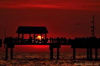 Crimson Sunset Poster by Richard Zentner