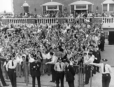 Crowd Welcomes Howard Hughes Poster