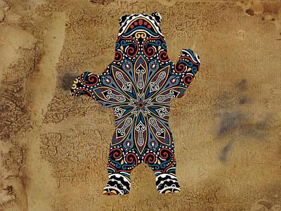 Da Bear Poster by Celestial Images