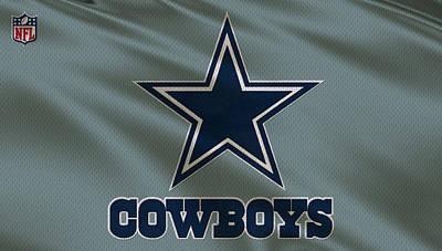 Dallas Cowboys Uniform Poster by Joe Hamilton