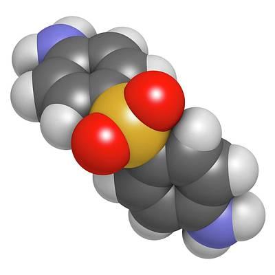 Dapsone Antibacterial Drug Molecule Poster by Molekuul