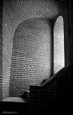 Dark Brick Passageway Poster by Frank Romeo