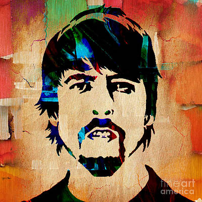 Dave Grohl Foo Fighters Poster by Marvin Blaine
