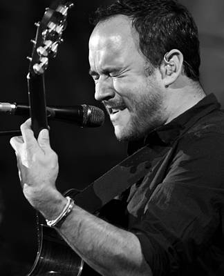 Dave Matthews On Guitar 9 Poster by Jennifer Rondinelli Reilly - Fine Art Photography