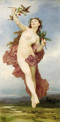 Day Poster by William-Adolphe Bouguereau