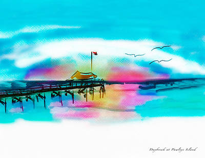 Poster featuring the digital art Daybreak At Pawleys Island by Frank Bright