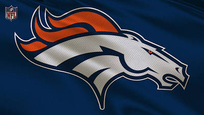Denver Broncos Uniform Poster by Joe Hamilton
