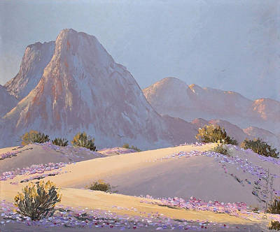 Poster featuring the painting Desert Prelude by Dan Redmon