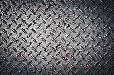 Diamond Plate Background Poster by Brandon Bourdages