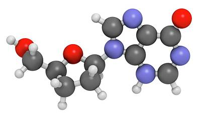 Didanosine Hiv Drug Molecule Poster