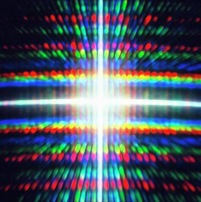 Diffracted Light Pattern Poster by Alfred Pasieka
