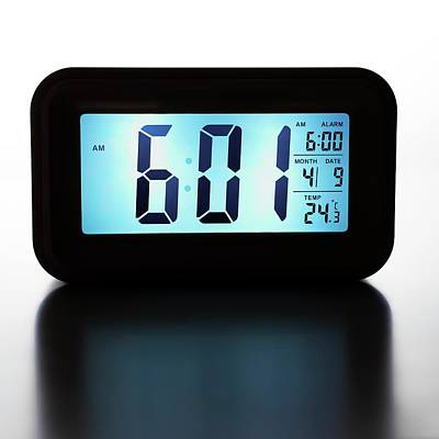 Digital Alarm Clock Poster by Science Photo Library