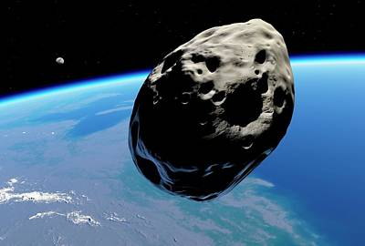 Dinosaur Extinction Asteroid Poster