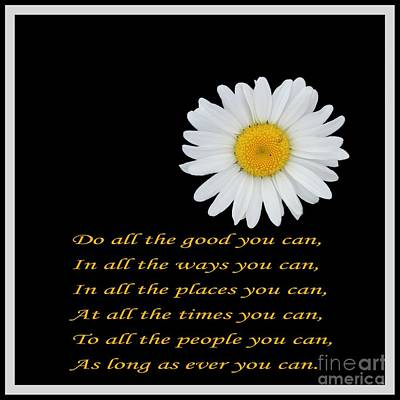 Do All The Good You Can Poster by Barbara Griffin