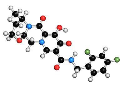 Dolutegravir Hiv Drug Molecule Poster