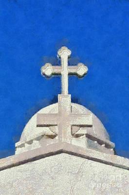 Dome Of Agios Georgios Chapel Poster
