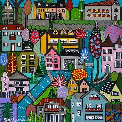 Dorf Im Fruhjahr Square Poster