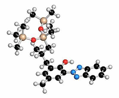 Drometrizole Trisiloxane Molecule Poster by Molekuul