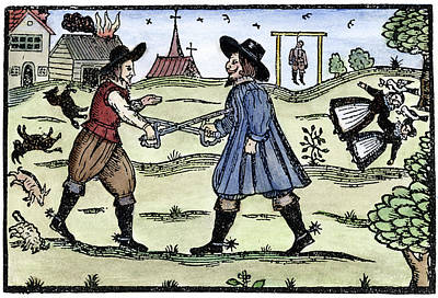Dueling, 1595 Poster by Granger