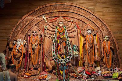 Durga Puja Festival Poster by Rudra Narayan  Mitra