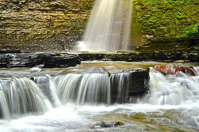 Eagle Cliff Falls Poster by Frozen in Time Fine Art Photography