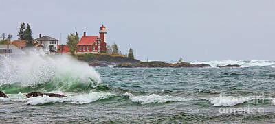 Eagle Harbor Lighthouse Poster by Jack Schultz