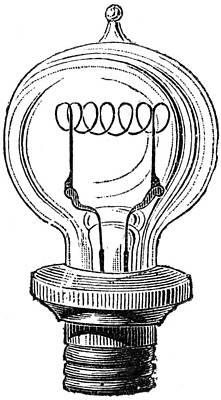 Edison Lamp, 19th Century Poster