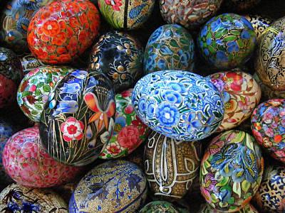 Egg Basket Poster by Sylvia Thornton