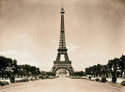 Eiffel Tower And Park 1909 Poster by Mountain Dreams