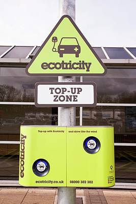 Electric Car Recharging Station Poster by Ashley Cooper