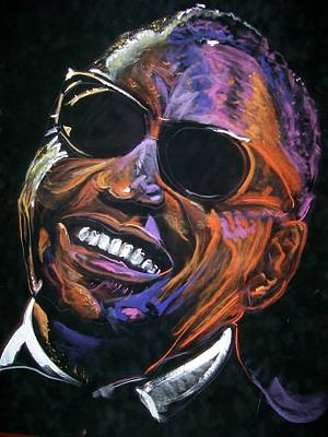 Poster featuring the mixed media electric Ray Charles by Peter Suhocke