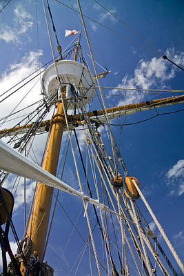 Poster featuring the photograph Elizabeth II Mast Rigging by Greg Reed